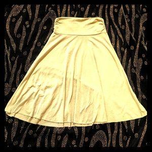 Soprano Beige Midi Skirt S
